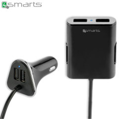 4smarts Crew 4x USB 9.6A Car Charger - Black