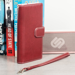 Sophisticated and lightweight, this red floral leather-style wallet case is the ideal companion for your Sony Xperia XA1. The Olixar leather-style wallet case offers perfect protection, as well as featuring slots for your cards.