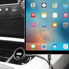Keep your Apple iPad Pro 10.5 inch fully charged on the road with this high power 2.4A Car Charger, featuring extendable spiral cord design. As an added bonus, you can charge an additional USB device from the built-in USB port!