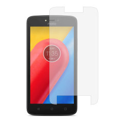 Keep your Motorola Moto C Plus screen safe without compromising on sensitivity with this official tempered glass screen protector.