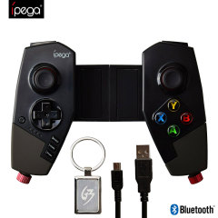 Enhance your mobile gaming experience with this wireless Bluetooth controller from iPega. Dock your smartphone for a secure, sturdy grip, or use the controller standalone on tablets and larger devices. Compatible with Android and iOS.