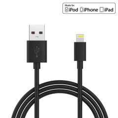 Make sure your Lightning devices are always fully charged with the this Charge & Sync Lightning to USB Cable in black for Apple Lightning compatible devices. This cable is certified MFi by Apple for use with their products.