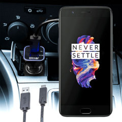 Keep your OnePlus 5 fully charged on the road with this compatible Olixar high power dual USB 3.1A Car Charger with an included high quality USB to USB-C charging cable.