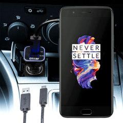 Laden Sie Ihr OnePlus 5 unterwegs auf, mit diesem Hochleistungs 3.1A OnePlus 5 Kfz-Ladegerät und USB zu USB-C Ladekabel.