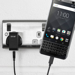 Charge your BlackBerry KEYone and any other USB device quickly and conveniently with this compatible 2.4A high power USB-C UK charging kit. Featuring a UK wall adapter and USB-C cable.