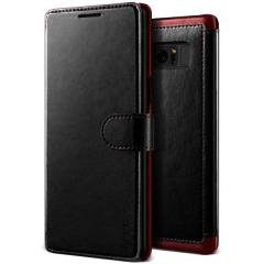 VRS Design Dandy Leather-Style Galaxy Note 8 Wallet Case - Black
