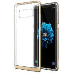 VRS Design Crystal Bumper Samsung Galaxy Note 8 Case - Shine Gold