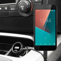 Mantenga su dispositivo Vodafone Smart N8 totalmente cargado mientras conduce con este cargador de coche con cable en espiral extensible. Además tiene un puerto adicional USB para poder cargar otro aparato.