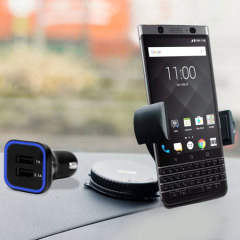 Olixar DriveTime BlackBerry KEYone Car Holder & Charger Pack