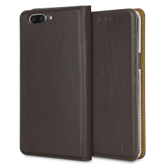 A premium slimline brown genuine leather case. The Olixar genuine leather executive wallet case offers perfect protection for your OnePlus 5, as well as featuring a smart magnetic media stand and slots for your cards, cash and documents.