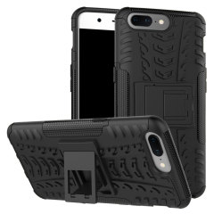 Protect your OnePlus 5 from bumps and scrapes with this black ArmourDillo case from Olixar. Comprised of an inner TPU case and an outer impact-resistant exoskeleton, with a built-in viewing stand.