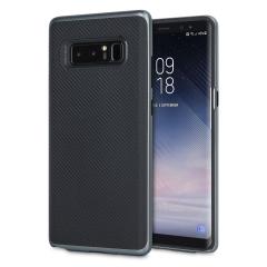 Con capas híbridas de robusto TPU  y policarbonato endurecido con un diseño de fibra de carbono antideslizante de acabado mate de primera calidad, la funda Olixar X-Duo mantiene su Samsung Galaxy Note 8 seguro, elegante y distinguido.