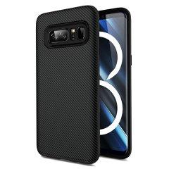 Olixar X-Duo Samsung Galaxy Note 8 Hülle in Carbon Fibre Jet schwarz