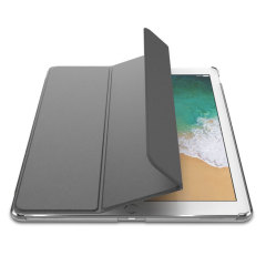 The Smart Cover just got smarter! Built-in magnets draw this grey Smart Case to the iPad Pro 10.5 for a perfect fit that not only protects, but also wakes up, stands up and brightens up your iPad. Also featuring an integrated Apple Pencil holder.