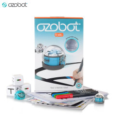 Introducing the Ozobot 2.0 Bit in cool blue - the perfect way to introduce children to computer science, robotics and coding in a fun and imaginative way. This starter kit includes an OzoCode reference sheet and over 20 activities to complete.