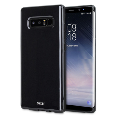 Custom moulded for the Samsung Galaxy Note 8. This solid black Olixar FlexiShield case provides a slim fitting stylish design and durable protection against damage, keeping your device looking great at all times.