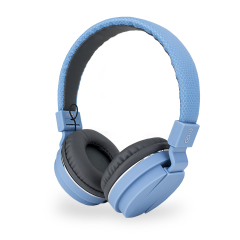 Bitmore Classic Over Ear Folding Headphones with Mic and Remote - Blue