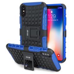 Olixar ArmourDillo iPhone X Case - Blauw