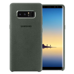 Protect your Samsung Galaxy Note 8 with this Official Alcantara case in khaki. Stylish and protective, this case is the perfect accessory for your Note 8.