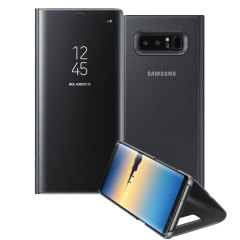 La protection Officielle Samsung Galaxy Note 8 Clear View Stand Cover en coloris noir est le moyen idéal pour protéger votre précieux smartphone et vous permettre l'affichage des notifications entrantes grâce à son rabat protecteur transparent.