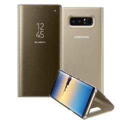 Esta funda oficial de Samsung es una excelente opción para proteger su Galaxy Note 8 sin perderse ni una sola notificación gracias a su tapa semi transparente.