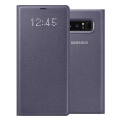 Protégez avec élégance votre Samsung Galaxy Note 8 ainsi que son écran des dommages du quotidien tout en pouvant consulter les notifications en un coup d'œil grâce à cette LED View Cover Officielle pour Samsung Galaxy Note 8.