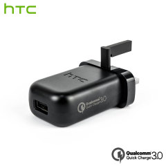 A genuine black HTC Qualcomm Quick Charge 3.0-compatible UK mains charger for your HTC smartphone. This is identical to the black charger supplied with the HTC U11 - TC-P5000UK.