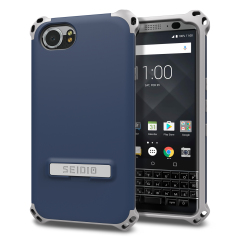 Protect your BlackBerry KEYone with this midnight blue / grey Dilex case from Seidio. This case provides shock absorbing protection with two interlocking layers and includes an integrated kickstand for easy media viewing.