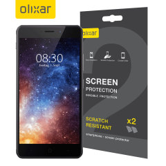 Keep your Neffos X1 Max screen in pristine condition with this Olixar scratch-resistant screen protector 2-in-1 pack.