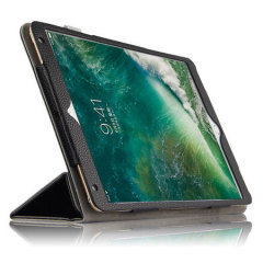 This luxury genuine leather case for iPad Pro 10.5 from Olixar houses supreme function in an elegant, professional form. Complete with automatic sleep / wake to save battery, as well as a folding stand function which makes viewing media super-simple.