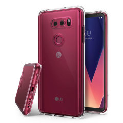 Protect the back and sides your LG V30 with this incredibly durable and clear backed Fusion Case by Ringke.