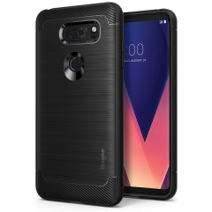 Provide your LG V30 with slim yet heavy duty protection with this smooth finish black Ringke dual-layered Onyx case. The design and soft touch finish preserve the aesthetic and feel of the LG V30.