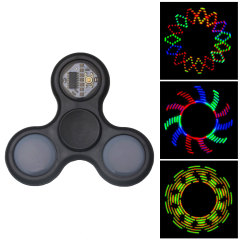 Whether you're looking for an amusing distraction or want to keep the kids happy, this LED lightshow fidget spinner is ideal for tricks, entertainment and relaxing. Alternating patterns and high quality components make this stand out amongst others.