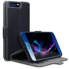 All the benefits of a wallet case but far more streamlined. The Low Profile in black is the perfect partner for the the Huawei Honor 9 owner on the move. What's more, this case transforms into a handy stand to view media.