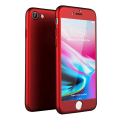Olixar XTrio Full Cover iPhone 8 Case - Red