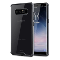 Custom moulded for the Samsung Galaxy Note 8. This black and clear Olixar ExoShield tough case provides a slim fitting stylish design and reinforced corner shock protection against damage, keeping your device looking great at all times.