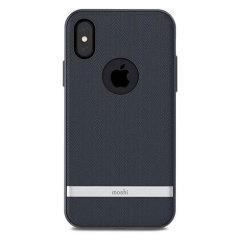 Moshi Vesta iPhone X Textilmuster Hülle - Bahama Blau