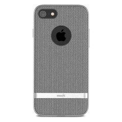 Moshi Vesta iPhone 8 Textilmuster Hülle - Herringbone Grau
