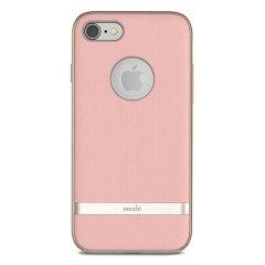 Moshi Vesta iPhone 8 Textilmuster Hülle - Blüte Rosa