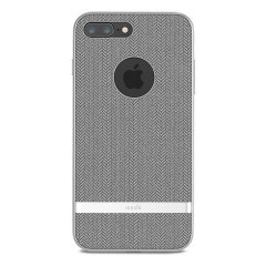 Moshi Vesta iPhone 8 Plus Textile Pattern Case - Herringbone Grey