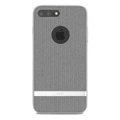 Moshi Vesta iPhone 8 Plus Textilmuster Hülle - Herringbone Grau