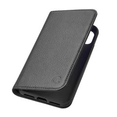 Cygnett CitiWallet Genuine Leather iPhone X Wallet Stand Case - Black