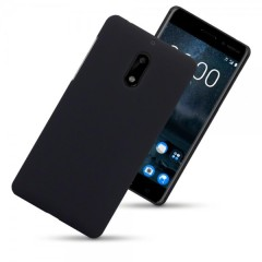 Olixar Nokia 6 Hybrid Rubberised Case - Black
