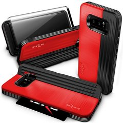 Zizo Retro Samsung Galaxy Note 8 Wallet Stand Case - Red / Black