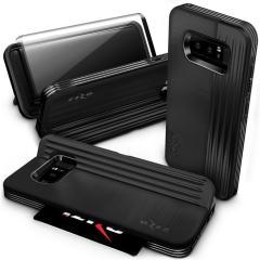 Zizo Retro Samsung Galaxy Note 8 Brieftaschen Stand Hülle - Schwarz