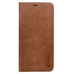 Krusell Sunne Samsung Galaxy Note 8 Folio Brieftaschen Hülle - Cognac