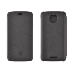 This official flip case in black for Motorola Moto C shields your device from knocks, scrapes and scratches while adding virtually no bulk.