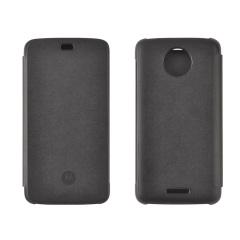 Official Motorola Moto C Flip Cover - Black