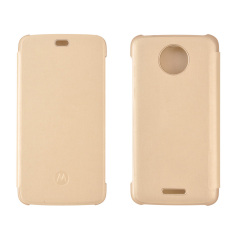 This official flip case in gold for Motorola Moto C shields your device from knocks, scrapes and scratches while adding virtually no bulk.
