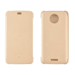 Official Motorola Moto C Flip Cover - Gold